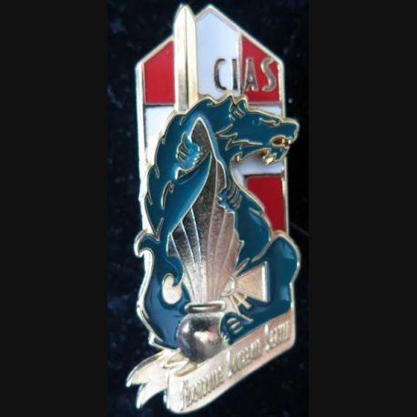 1° RI : insigne métallique de la CIAS du 1° régiment d'infanterie sans nom de fabricant (Ballard)