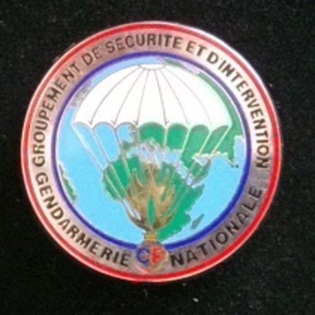 GSIGN CF : centre de formation du Groupement de Sécurité et d'intervention de la gendarmerie Nat JMM Insignes grenade argentée