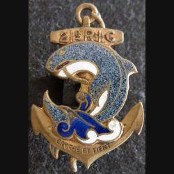 21° RIC : insigne métallique du 21° régiment d'infanterie coloniale fabrication Drago Béranger déposé en émail