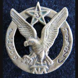 3° RTM : insigne métallique du 3° régiment de tirailleurs marocains fabrication locale Indochine