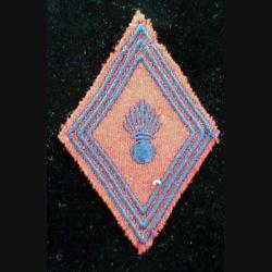 LOSANGE DE BRAS MODÈLE 45 : losange de bras de l'artillerie troupe 3 bandes