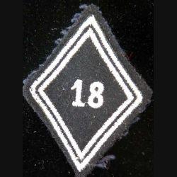 LOSANGE DE BRAS MODÈLE 45 : losange de bras du 18° RCH régiment de chasseurs troupe