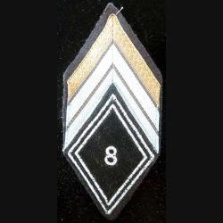 LOSANGE DE BRAS MODÈLE 45 : losange de bras de caporal chef appelé du 8° régiment de transmissions