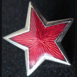 étoile émaillée rouge yougoslave de dimension 2,5 cm