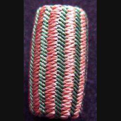 Gland de fourragère de la croix de guerre 1914-1918 de hauteur 2,7 cm couleurs pastel