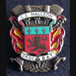 CS MAULEON : pin's du Corps de secours de Mauléon de fabrication AMC Hauteur 2,8 cm