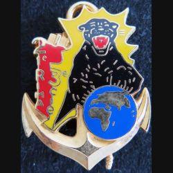 21° RIMA : insigne métallique de la 3° compagnie du 21° régiment d'infanterie de marine Boussmart