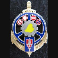 33° GC : insigne métallique du CIEC 33° groupement de Camp 22° RIMA de fabrication Delsart Sens