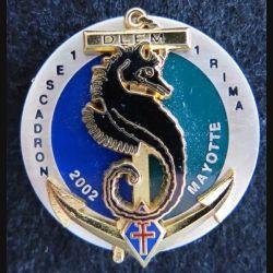 1° RIMA : insigne du 1° escadron du 1° régiment d'infanterie de marine Mayotte fabrication Arthus Bertrand