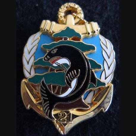21° RIMA : insigne du 21° régiment d'infanterie de marine au Liban de fabrication Boussemart 2000