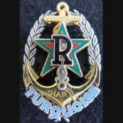 RICM 1° REC :  insigne régiment d'infanterie et chars de marine et 1° REC opération Turquoise Drago