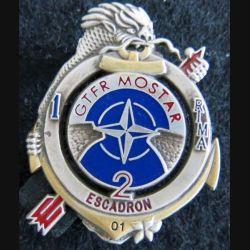 1° RIMA : insigne du 2° escadron du 1° régiment d'infanterie de marine BATINF 6 Pichard Balme Saumur