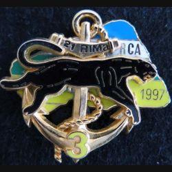 21° RIMA : insigne métallique de la 3° compagnie du 21° régiment d'infanterie de marine RCA 1997 Boussemart