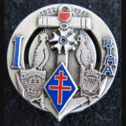 1° RIMA 3° RPIMA : insigne du 1° régiment d'infanterie de marine et 3° RPIMA  Nelle Calédonie Fraisse