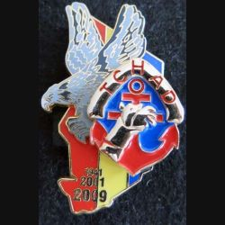 RMT : insigne métallique du régiment de marche du Tchad EPERVIER 1941 2001 2009 fabrication LR Paris