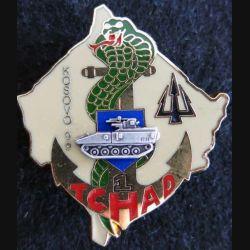 RMT : insigne métallique de la 1° compagnie du régiment de marche du Tchad Kosovo 99 Delsart
