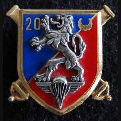 20° RA : insigne métallique du 20° régiment d'artillerie de fabrication Delsart G. 1999