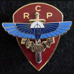 3° RCP : insigne métallique du 3° régiment de chasseurs parachutistes réalisé par Arthus Bertrand pour les Editions Atlas