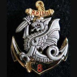 8° RPIMA : insigne du 8° régiment parachutiste d'infanterie de marine Boussemart 2002