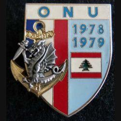 8° RPIMA : insigne du 8° régiment parachutiste d'infanterie de marine ONU 78-79 Delsart