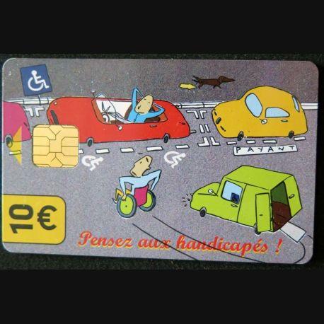 TELECARTE : télécarte pensez aux handicapés 10 € Mairie de Paris