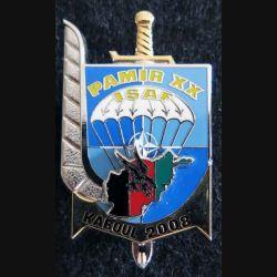 3° RPIMA : insigne métallique du 3° régiment parachutiste d'infanterie de marine PAMIR XX 2008 de fabrication Boussemart