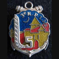 3° RPIMA : insigne métallique de la 5° compagnie du 3° régiment parachutiste d'infanterie de marine  Boussemart