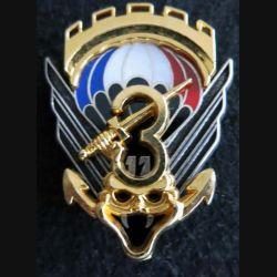 17° RGP : insigne de la 3° compagnie du 17°régiment parachutiste  de fabrication Boussemart