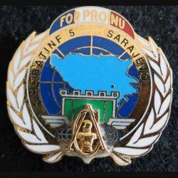 17° RGP : insigne de la compagnie appui du 17°régiment génie parachutiste FORPRONU BATINF 5 Fraisse