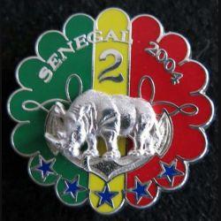 1° RHP : insigne 2° escadron du 1° régiment de hussards parachutistes Sénégal 2004 Boussemart prestige argent