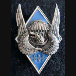 1° RHP : insigne métallique du peloton Kieger du 1° régiment de hussards parachutistes Delsart