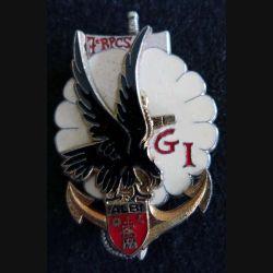 7° RPCS : insigne métallique du groupement d'instruction du 7° régiment parachutiste de commandement et des services Delsart