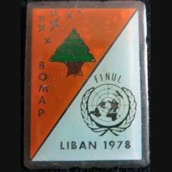 BOMAP : insigne métallique de la base aérienne mobile aéroportée Liban 1978 fabrication locale