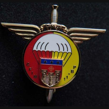 CFIM 11° DP : insigne du centre de formation initiale militaire de la 11° brigade parachutiste Ségalen N° 388