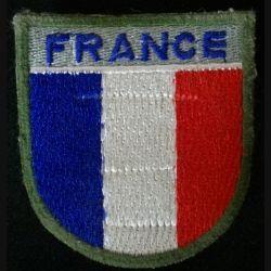 """INSIGNE DE MANCHE """"FRANCE"""" BLEU MARINE (HAUTEUR 6,7 cm)"""
