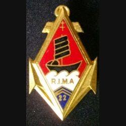 22° RIMA : insigne du 22° régiment d'infanterie de marine de fabrication Drago H. 186
