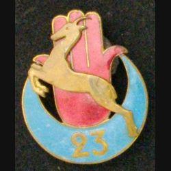 23° RTA : 23° RÉGIMENT DE TIRAILLEURS ALGÉRIENS (ABPD) émail (L 12)