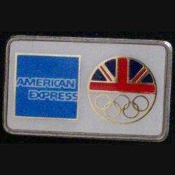 PIN'S DES JEUX OLYMPIQUES ANGLETERRE / AMERICAN EXPRESS DIMENSIONS : 3,3 x 2 cm (L23)