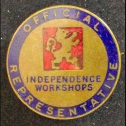 PIN'S DU SYNDICAT INDEPENDENCE WORKSHOPS BADGE OFFICIEL (L25)