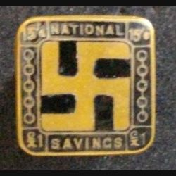 PIN'S DU NATIONAL SAVINGS MOVEMENT SWASTIKA 1916-1939 (L25)