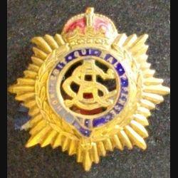 Insigne anglais Army Service Corps WW1 première guerre mondiale Honi soit qui mal y pense en émail diamètre 3 cm (L 24)
