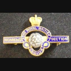 Très Vielle barrette anglaise THE ROYAL BRITISH LEGION WOMENS SECTION en émail de largeur 4,2 cm (L 24)