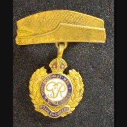broche anglaise des ROYAL ENGINEERS WW2 HONI SOIT QUI MAL Y PENSE 2° guerre mondiale en émail de hauteur 4 cm (L 24)