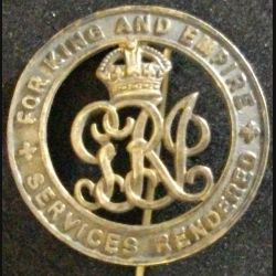 BROCHE ANGLAISE FOR KING AND EMPIRE-SERVICES RENDERED WW1 (L25)