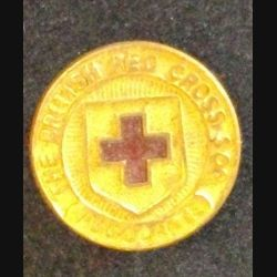 insigne anglais de type broche THE BRITISH RED CROSS SOC. ASSOCIATE en émail de diamètre 2 cm (L 24)