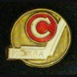 PIN'S MOCKBA DIAMÈTRE 2 cm MÉTAL LÉGER PEINT (L23)