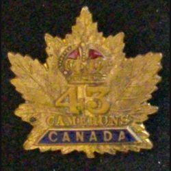 INSIGNE DU 43°BATAILLON D'INFANTERIE CAMERON HIGHLANDERS WW1 (L25)