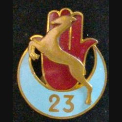 23° RTA : 23° RÉGIMENT DE TIRAILLEURS ALGÉRIENS (COURTOIS) émail (L 12)
