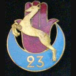 23° RTA : 23° RÉGIMENT DE TIRAILLEURS ALGÉRIENS (D BER) émail (L 12)