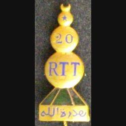 20° RTT : 20° RÉGIMENT TIRAILLEURS TUNISIENS (CROISSANT AJOURÉ) (L3)